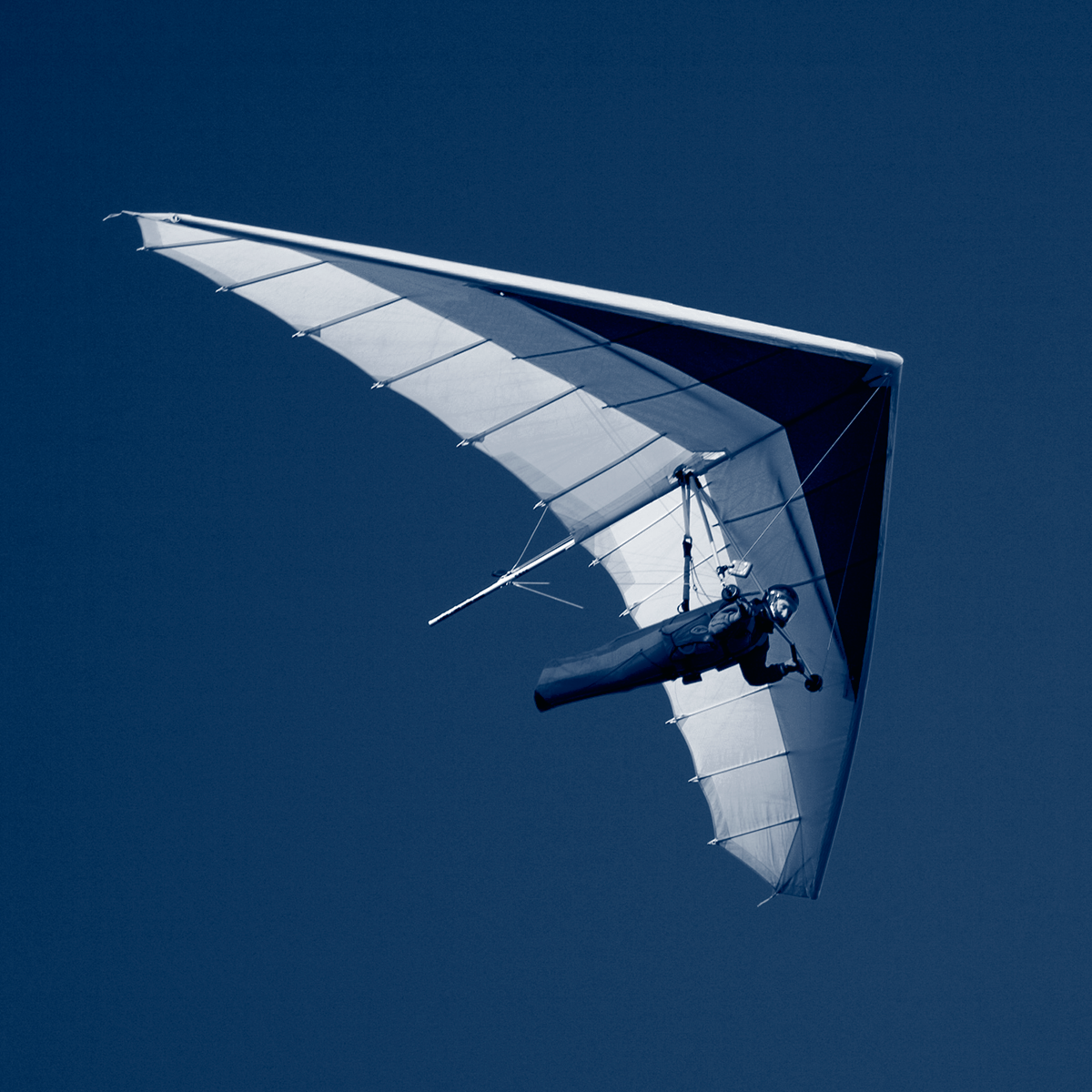 hang glider in the air